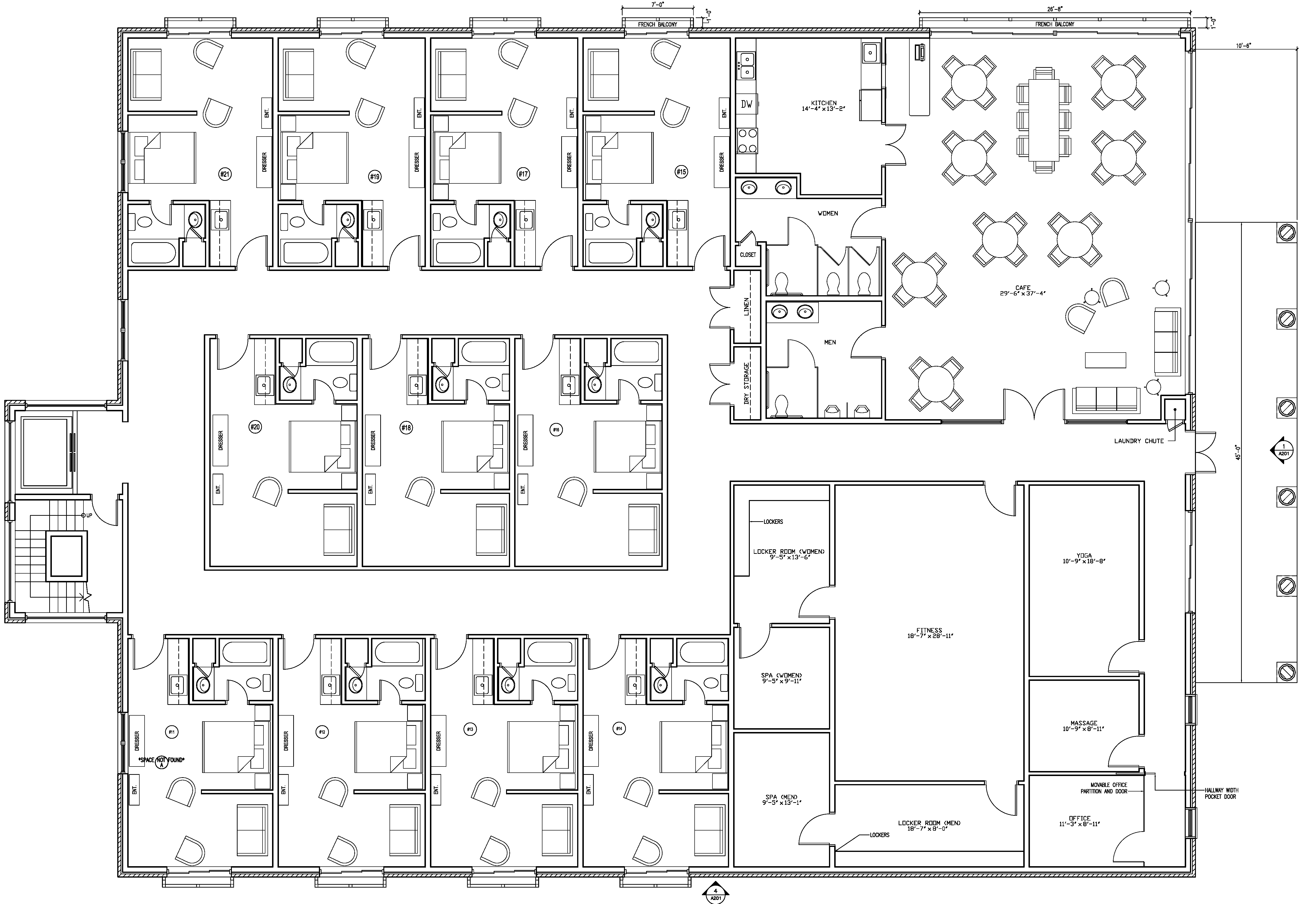 100 multi unit apartment floor plans another look for Multi unit apartment building plans